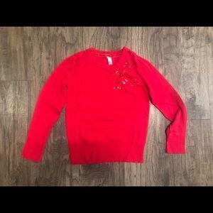 Cherokee red sweater